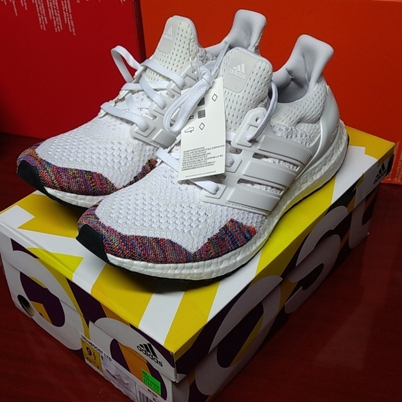 Adidas Ultraboost LTD White Rainbow Men's 9.5 NWT